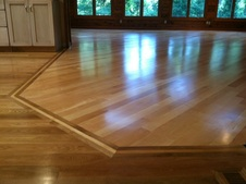 wood floor border